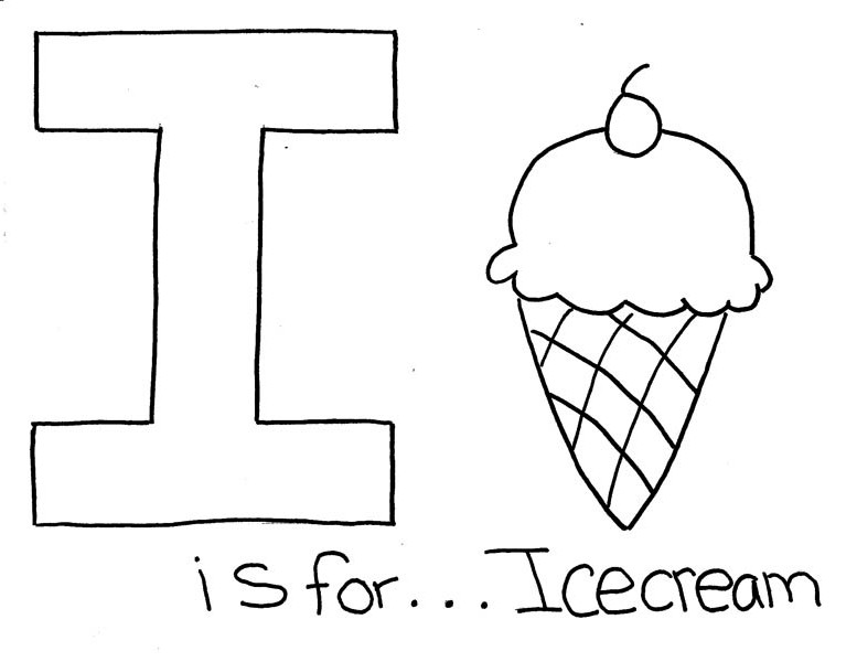 47++ I for ice cream coloring page free download