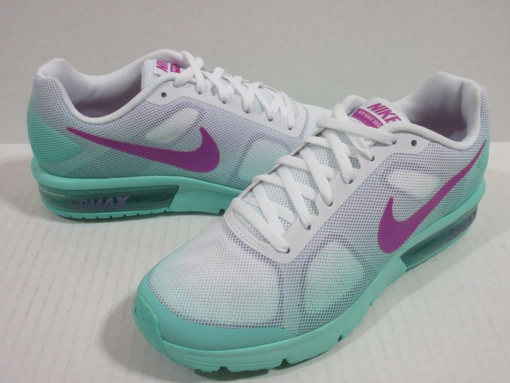 more photos 345f4 85c9a Nike Grade School Air Max Sequent Sz.5Y White Hype Turquoise 724984-105   Nike