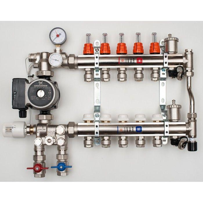 2 12 Port Multi Zone Mixing Manifolds Underfloor Heating Systems