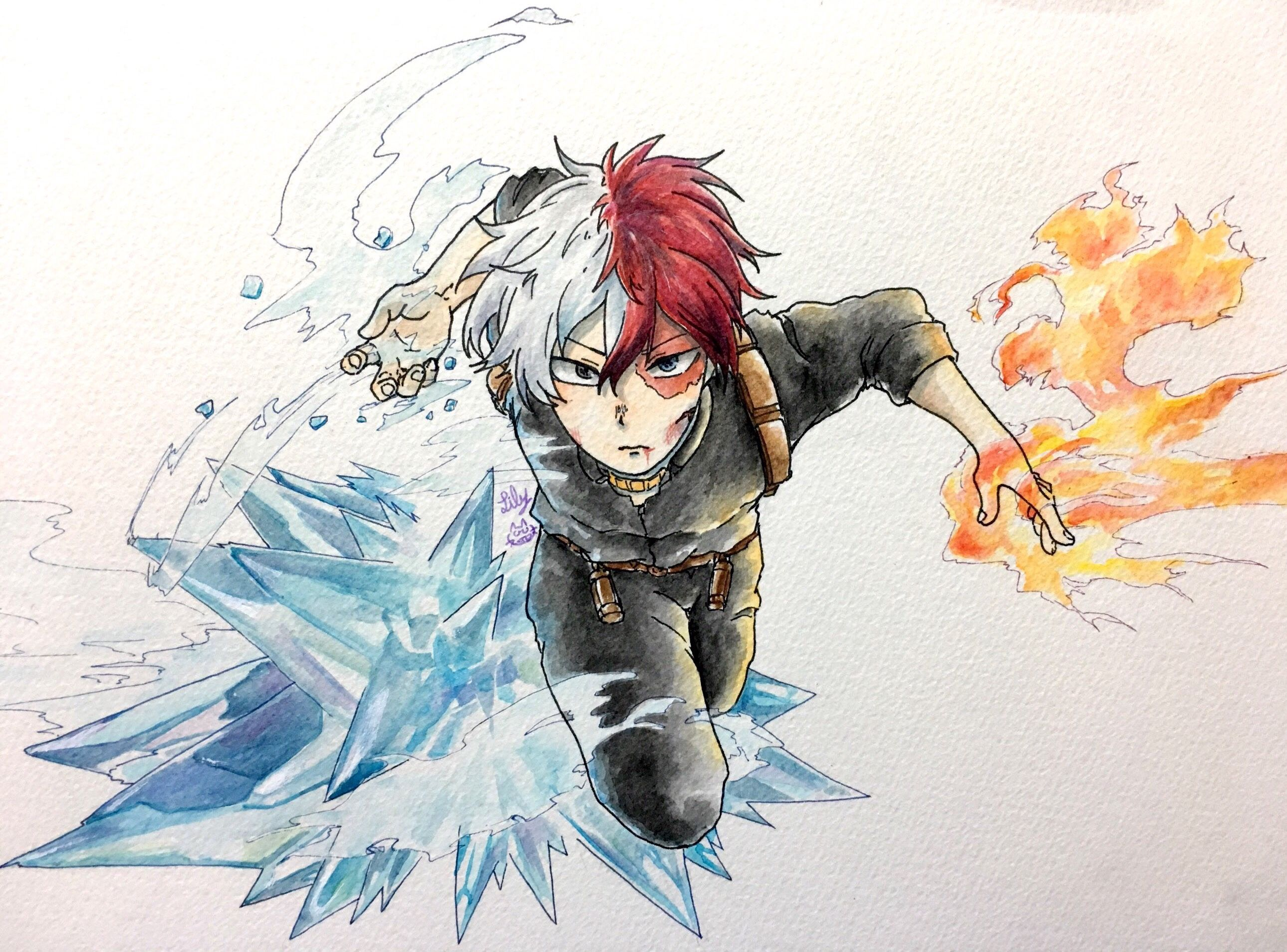 Boku No Hero Academia Todoroki Shouto Dibujo Drawing By リリィ