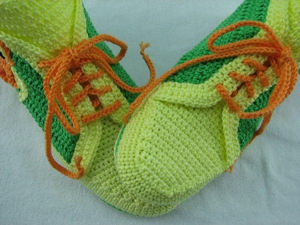 Häkelanleitung Hausschuh Sneaker \