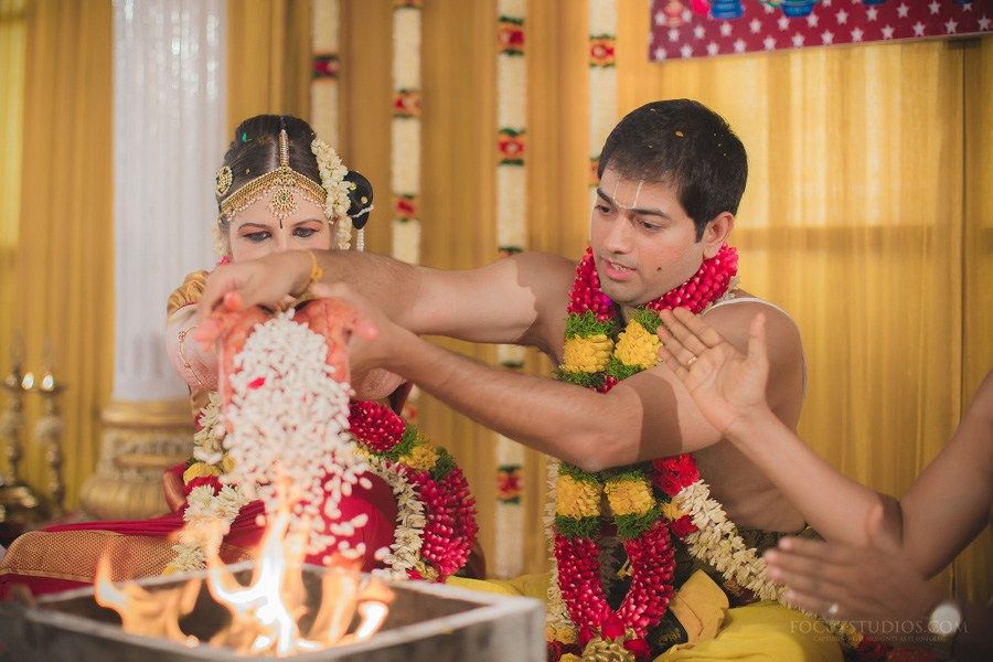 Indo Brazilian TamBrahm Wedding in Chennai Aravind and Paola