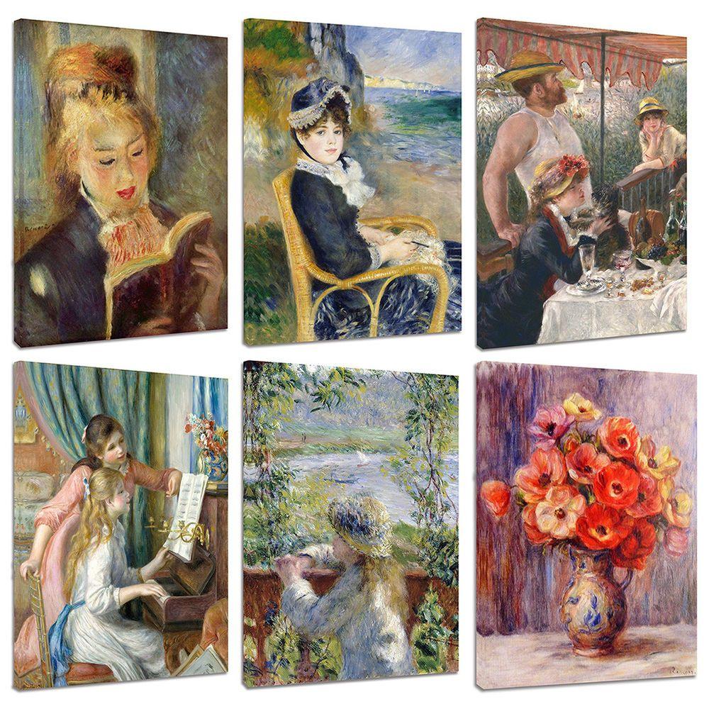 Quadri Moderni Renoir cm.50x70 Arte Falsi d\'Autore Stampa su Tela ...