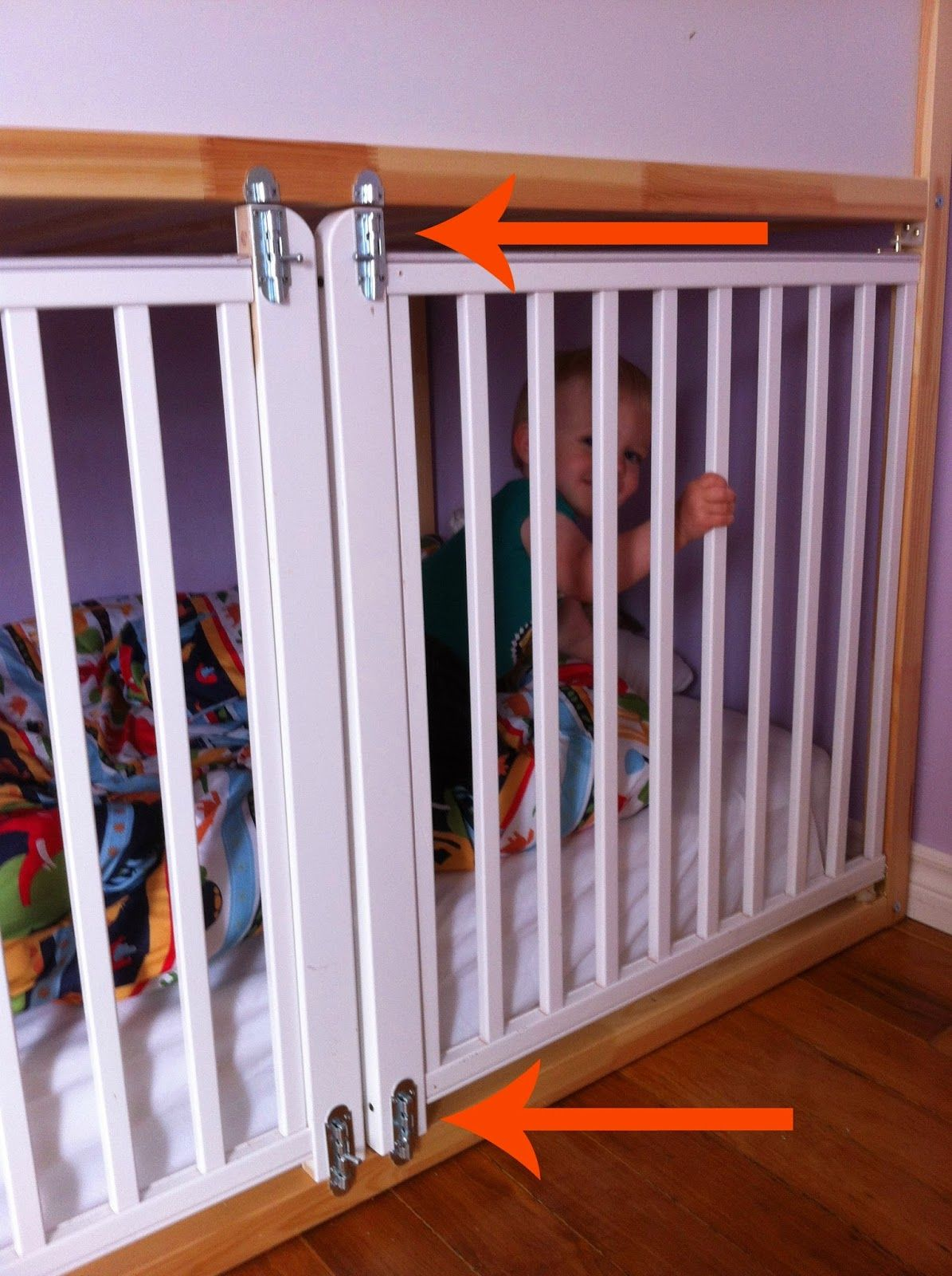 Catching up with kristina diy crib bed hack adventures for Rv loft bed