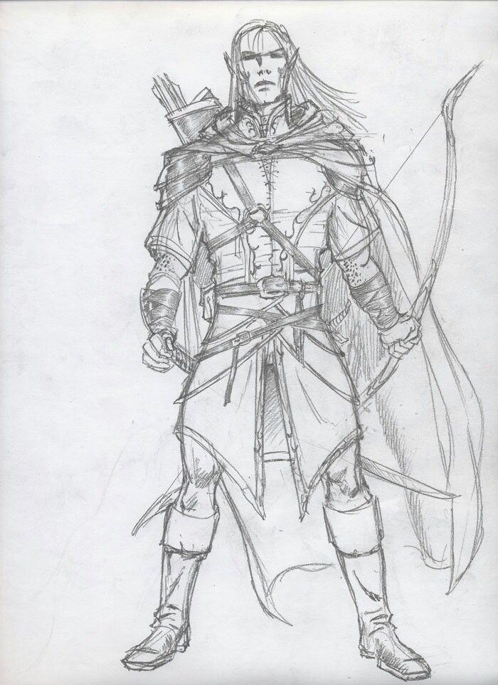 Male half elf ranger D amp D Pinterest