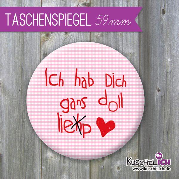 Taschenspiegel ♥ 59 mm von Kuschelich auf DaWanda.com