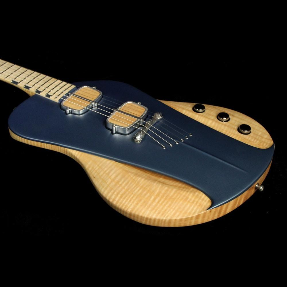 sauvage guitars one piece master iii electric guitar natural and aquamarine blue 32297. Black Bedroom Furniture Sets. Home Design Ideas