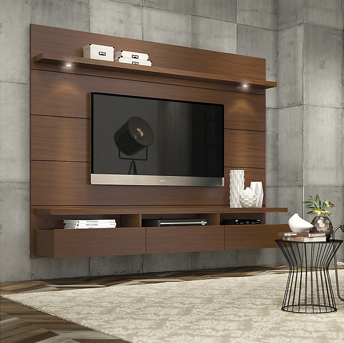 Decocasa rack de tv 171x181x43 cm nogal en 2019 living - Muebles de tv de diseno ...
