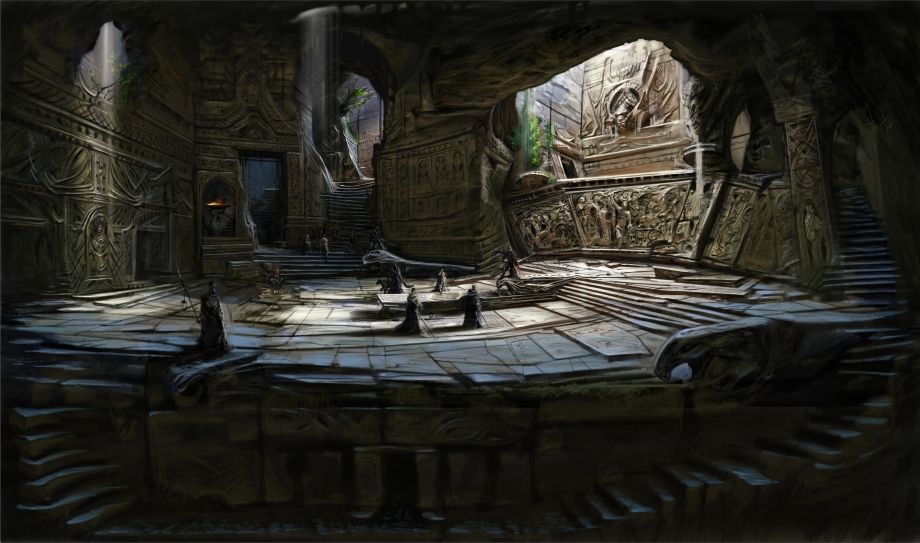 Blades Temple Rough Skecth Conceptart From The Elder Scrolls V