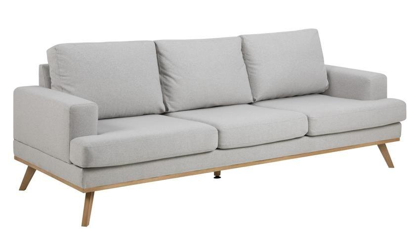 Sofa Norwich 3 Sitzer Hellgrau Skandinavischer Stil Couch In 2020 Skandinavischer Stil Sofa Sofa Design