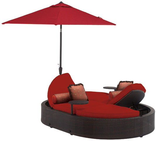 Unique Patio Furniture   Whitley Oval Chaise Lounge By La Z  Boy Outdoor  Offers