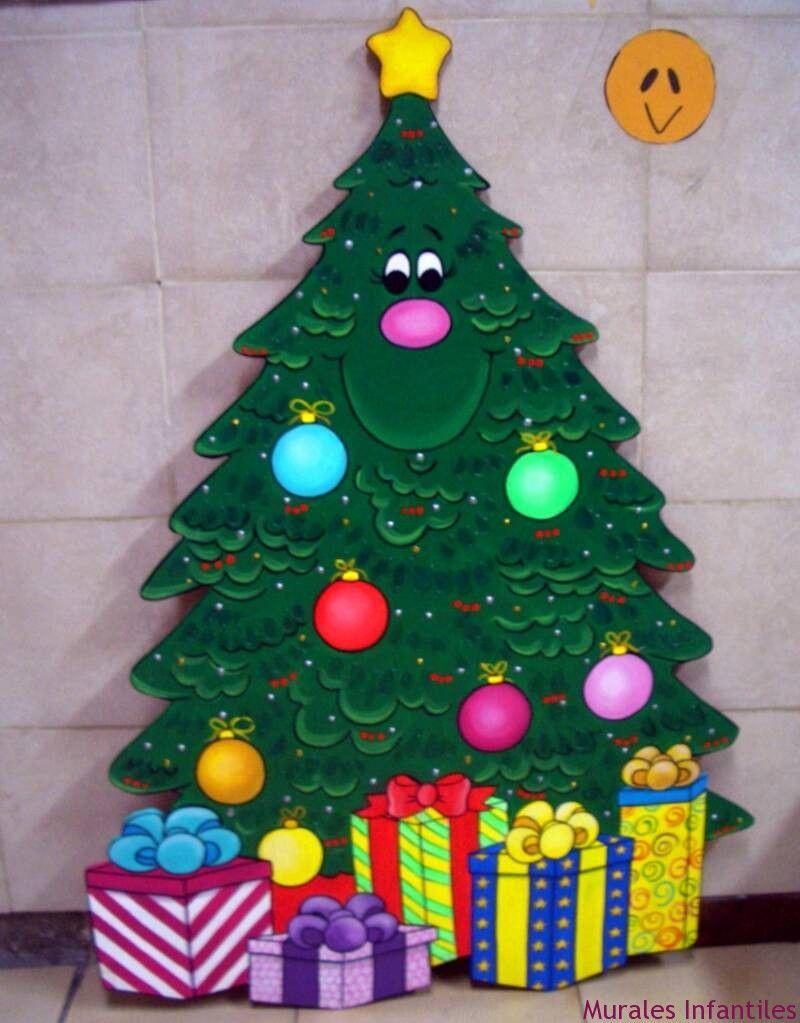 Cli 66 Motivos De Navidad Realizadios En Madera Decoraciones  ~ Manualidades De Navidad Para  Ninos De Tres Años