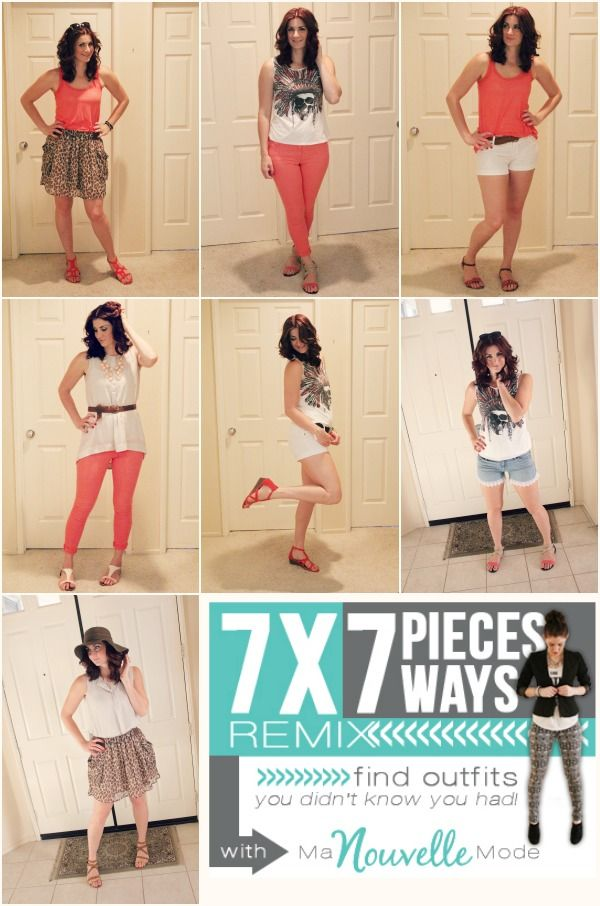 July 7×7 Outfits What I like about this is it is really simple with the accessories and each outfit holds its own.  I would wear and love each outfit and each outfit feels different.  This to me, feels like a very successful and simple 7x7