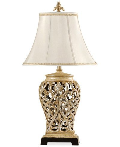 Stylecraft open lace scroll table lamp created for macys stylecraft open lace scroll table lamp aloadofball Image collections
