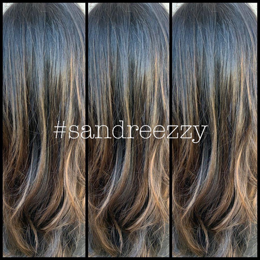 Partial balayage & color #Sandreezzy #hairninja #volumeiii #haircolor #balayage