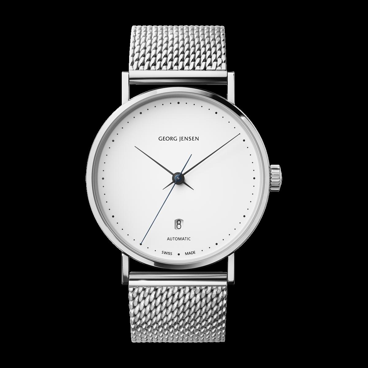 KOPPEL - 41 mm, Automatic mechanical, white dial, steel bracelet