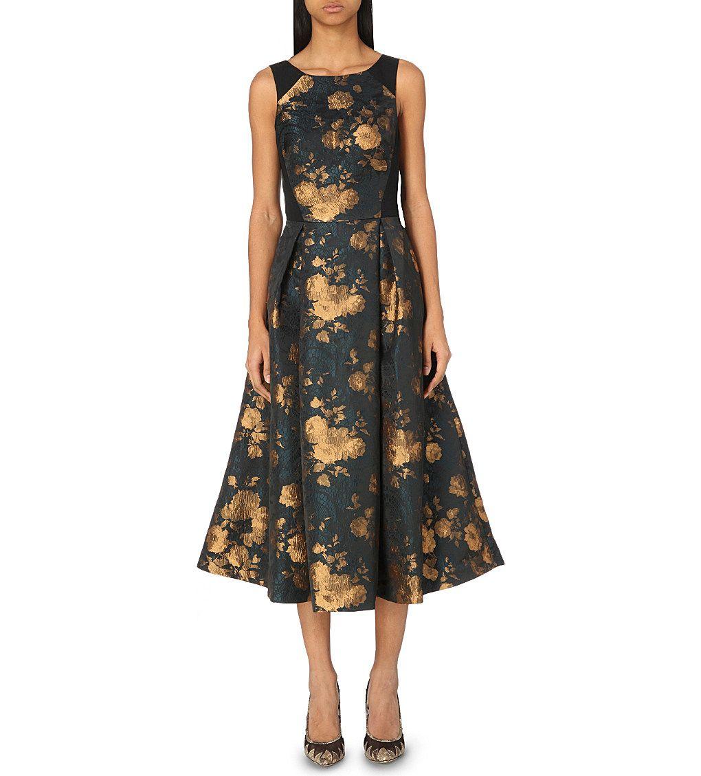 Charlet floral-jacquard dress | Floral Bridesmaids | Pinterest