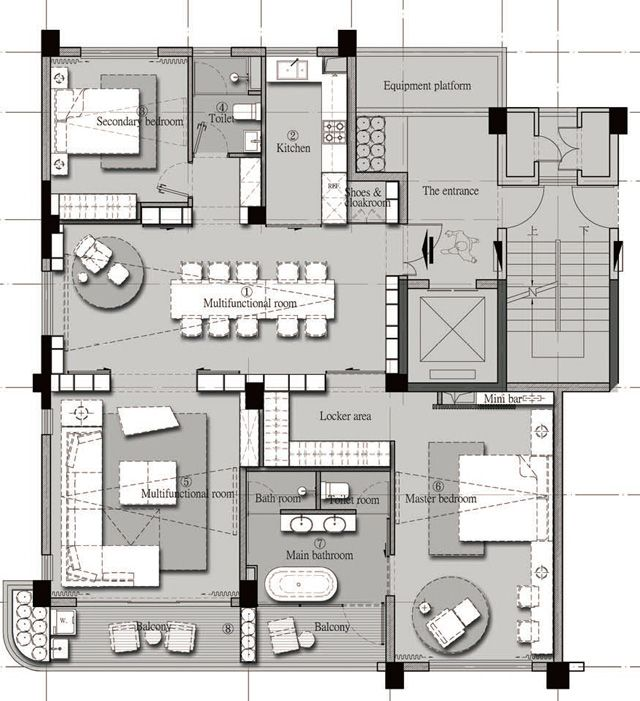 04范继景160户型jpg VGCR Pinterest Layouts, Apartments and