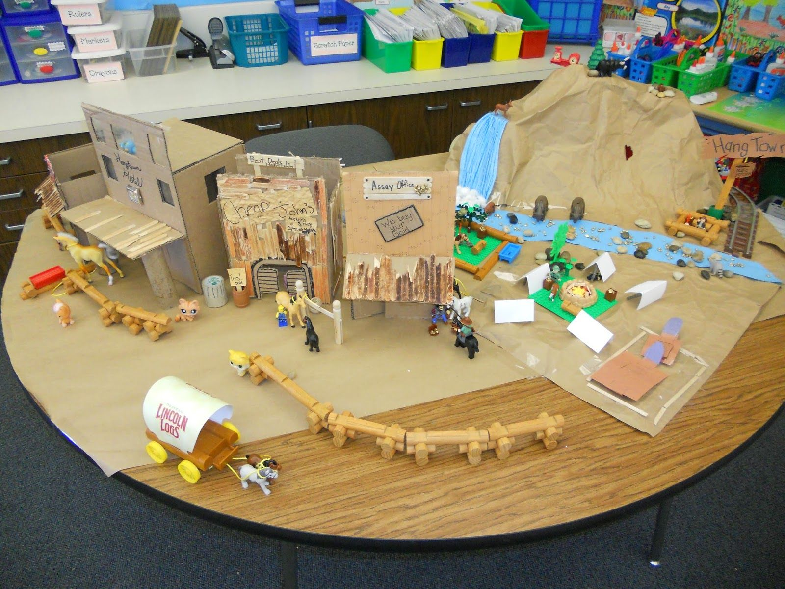 By The Great Horn Spoon Hangtown California Gold Rush Town Diorama