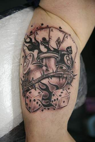 Best Tattoos For Men Playing Card Tattoos Jovens Tatuados