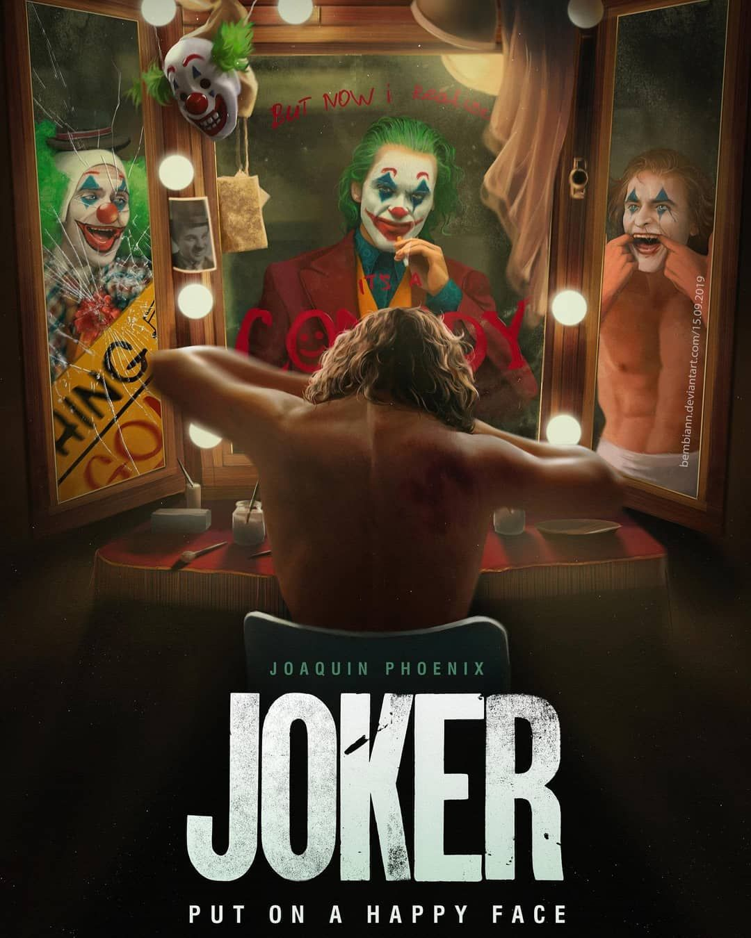 Joker Poster Joaquin Phoenix Movie Tv 2019 Poster Size 16×24 24×36