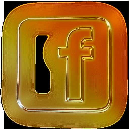 logo facebook gold