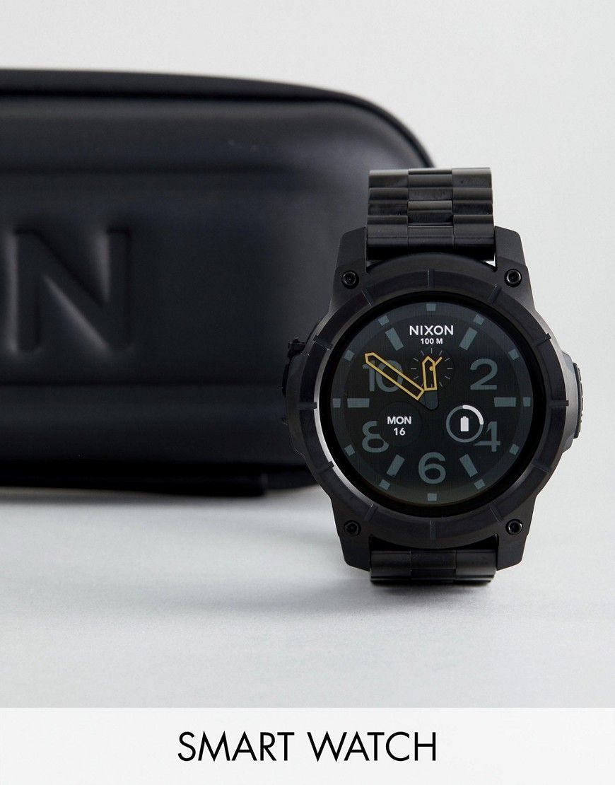 a594b2c1729 NIXON MISSION SS BRACELET SMART WATCH IN BLACK - BLACK.  nixon ...