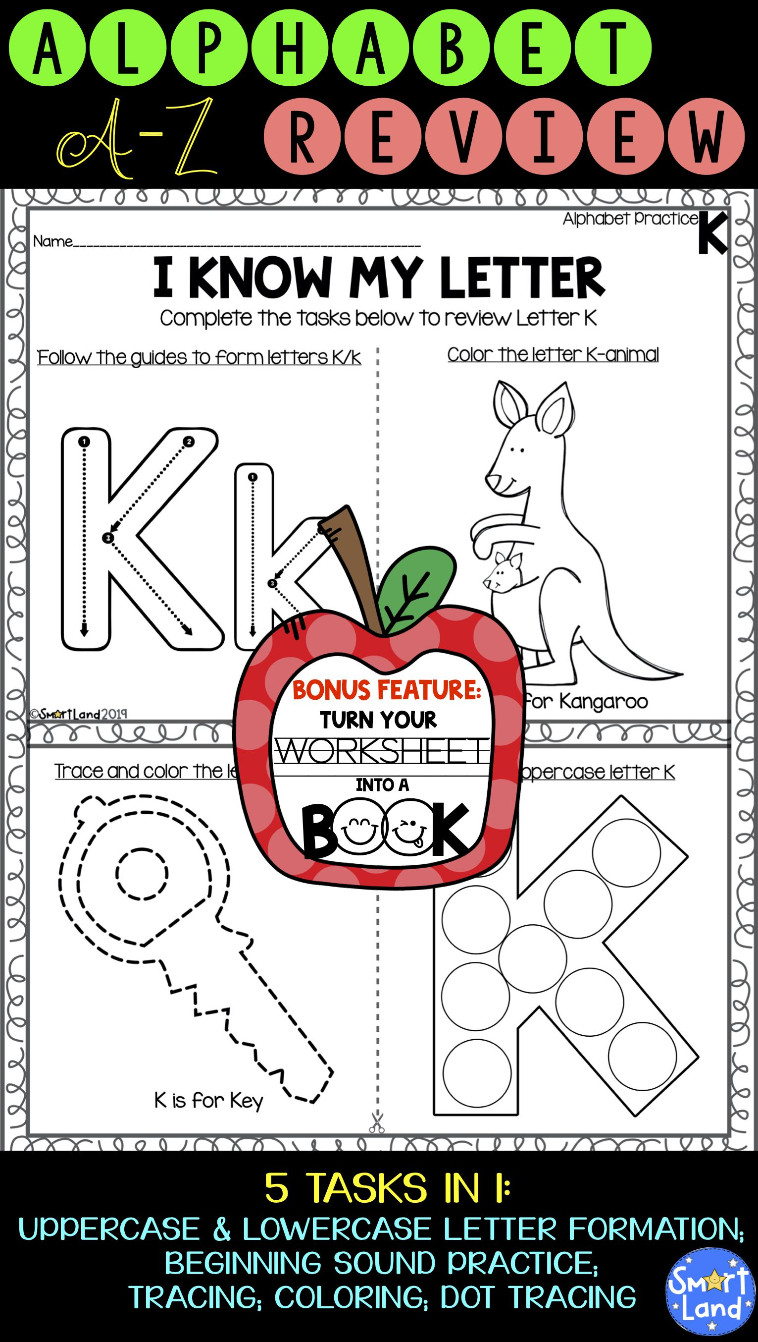 Alphabet Worksheets A Book A Z Handwriting Practice