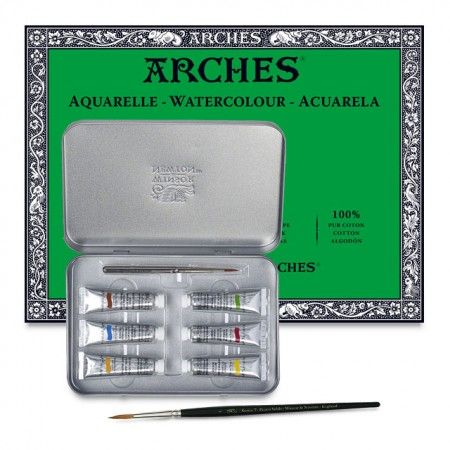 The Winsor Newton Arches Professional Watercolor Gift Set Are