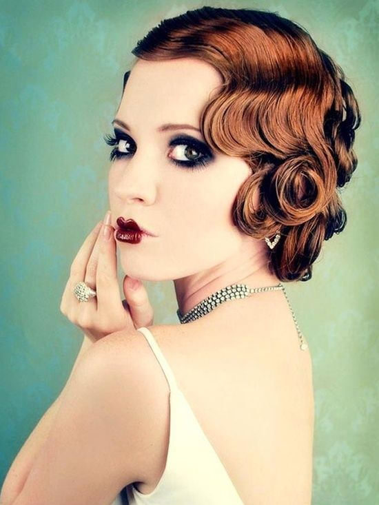 1920 S Inspired Pin Curls Another Bobbed Look For Ladies