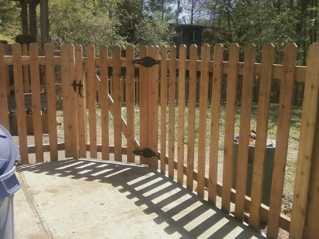 cedar fence picket lengths | tall spaced picket using