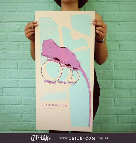 Gravura LIBERDADE Poste http://leite-com.com.br/loja/produtos/poster/poster-liberdade-poste/