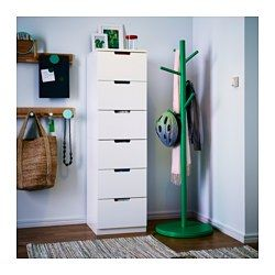 IKEA - NORDLI, Ladekast met 6 lades, , Je kan één ladekastmodule gebruiken of er meerdere combineren en zo de ruimte optimaal benutten.Creëer eenvoudig je persoonlijke stijl door ladekasten van verschillende kleuren te combineren.De ingebouwde demper vangt de lade op en zorgt voor een langzame, stille en zachte sluiting.Door de verborgen laderails lopen de lades soepel, ook als ze zwaar zijn belast.Met de verstelbare poten kan je oneffenheden in de vloer opvangen.