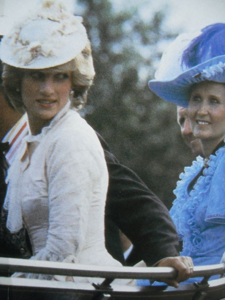 June 29, 1983: Princess Diana dressed up in Edwardian fashion for a Klondike evening barbeque at Fort Edmonton in Edmonton, Canada during the Royal Tour of Canada. (Day 16)