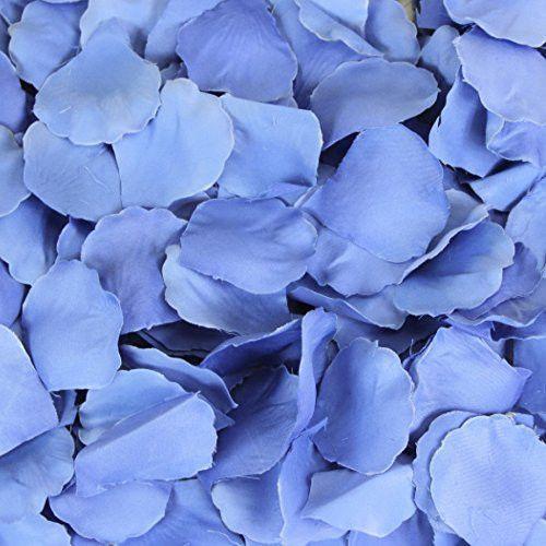 2000 Silk Rose Light Blue Petals Flowers Confetti Wedding Birthday Decorations