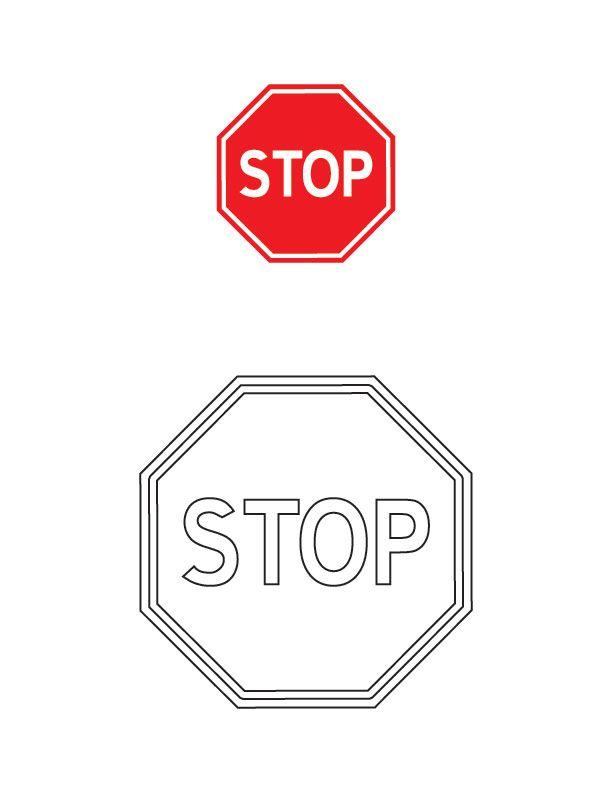 Stop Traffic Sign Coloring Page Trafik Isaretleri Isaretler Hayat Bilgisi