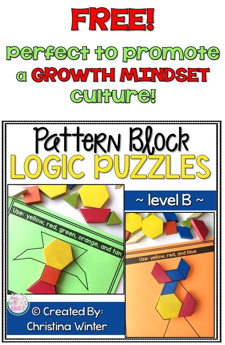 Pattern Block Logic Puzzles | Logic puzzles, Pattern blocks and ...