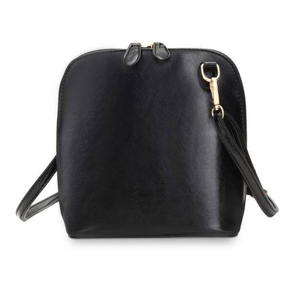 Women Burnished Leather Shell Dual Zippered Crossbody Bags (€11) ❤ liked on Polyvore featuring bags, handbags, shoulder bags, newchic, black, leather shoulder bag, genuine leather purse, leather shoulder handbags, crossbody handbags and shell purse