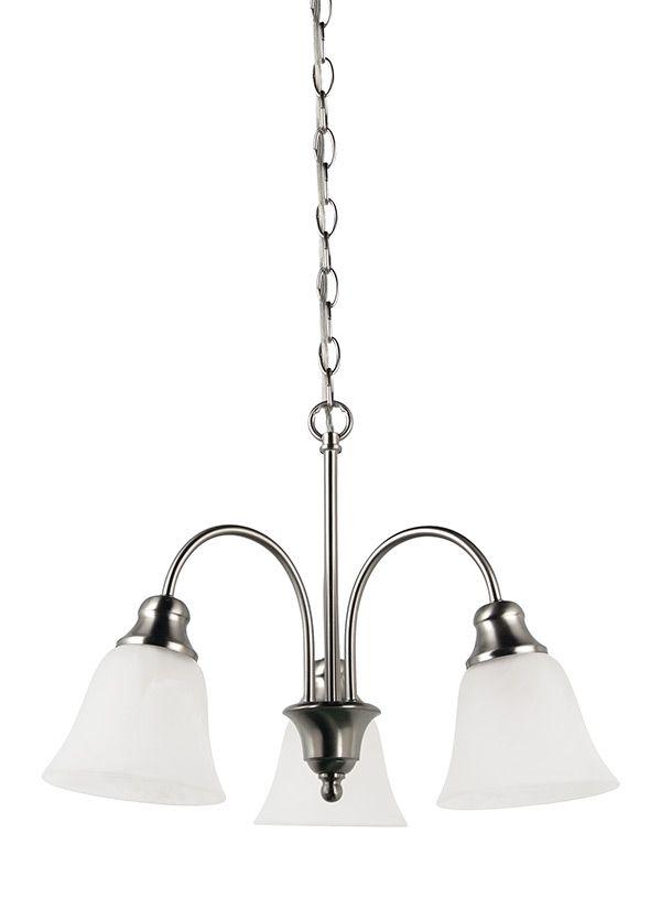 35949-962,Three Light Chandelier,Brushed Nickel