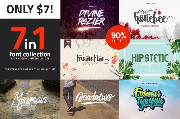 7in1 Fonts Only $7 @creativework247