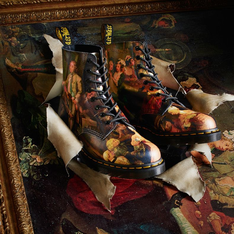 Shoes for art history boffins - Dr Martens  collab with William Hogarth is  picture perfect. 7bfb6a7ce1