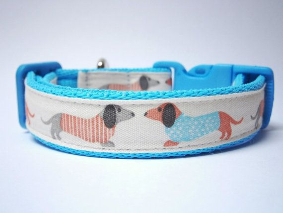 Dachshund Cushioned Dog Collar Various by RubySpanielDesigns