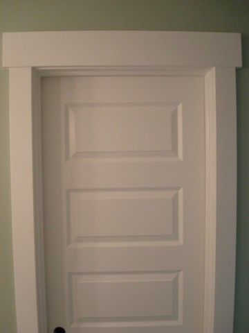 5 panel doors with simple craftsman trim trim window for Mission style moulding