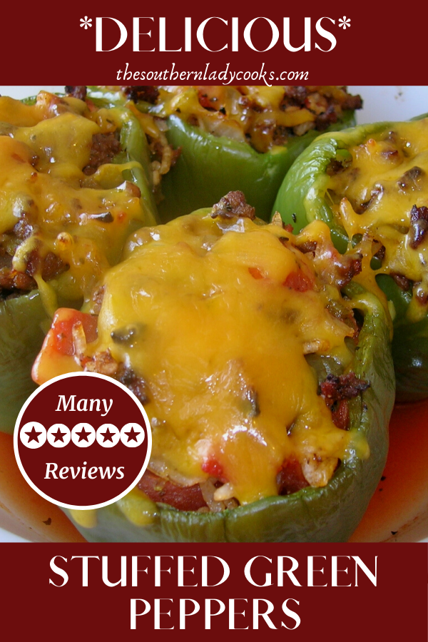 Stuffed Green Peppers In 2020 Stuffed Peppers Stuffed Green Peppers Green Pepper Recipes