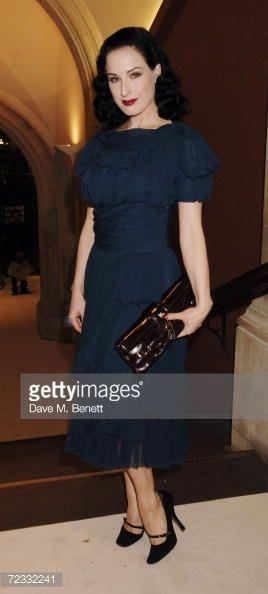 Nachrichtenfoto : Dita Von Teese attends the private view of 'David...