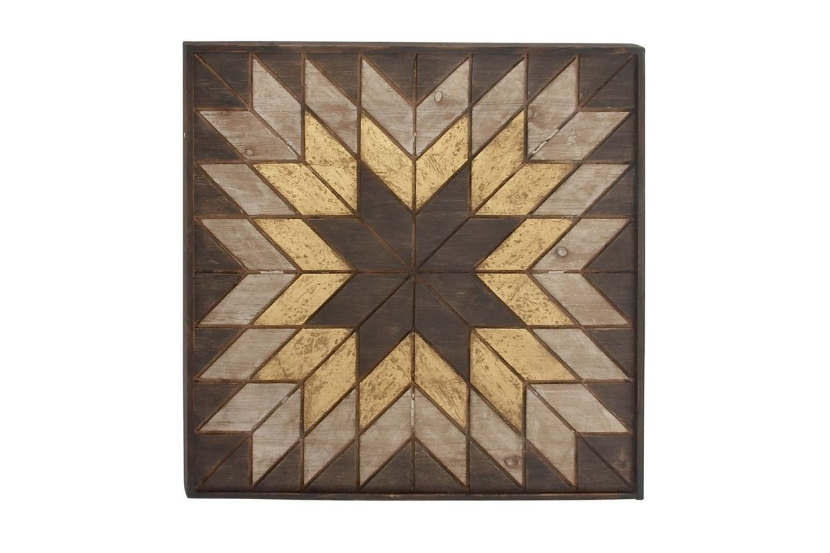 Modern Reflections Rectangular Wall Plaque in Distressed ...