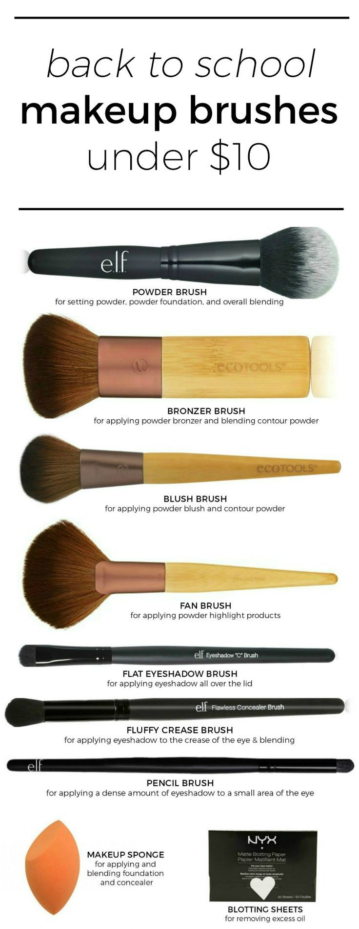 The best makeup brushes under 10 that are perfect for