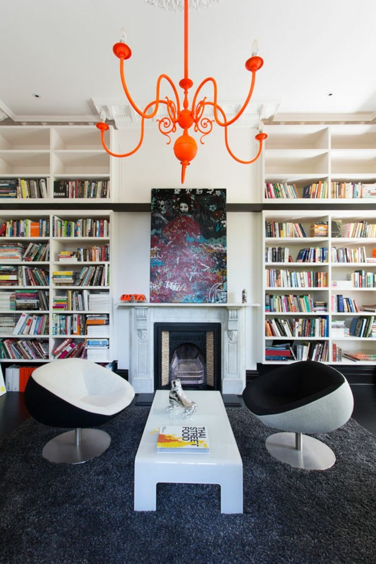 Maison de ville au design int rieur luxe melbourne for Bibliotheque contemporaine laquee design