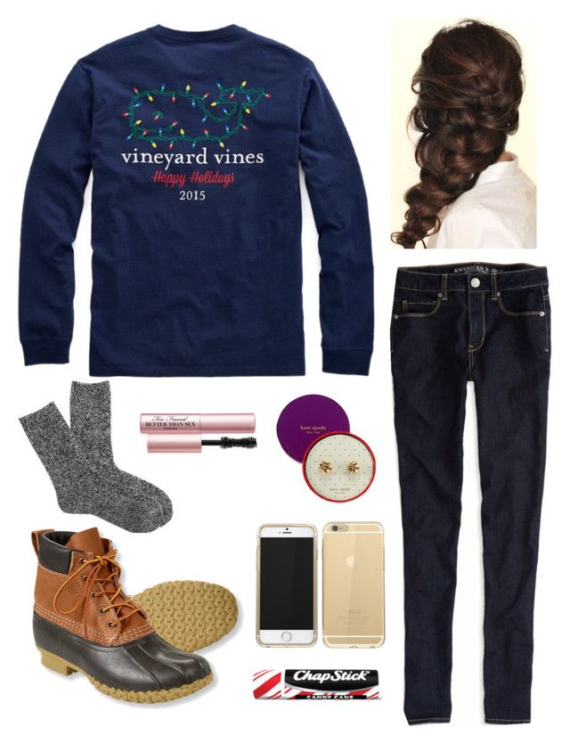 Preppy Christmas Casual by erinndani on Polyvore featuring polyvore, fashion,  style, American Eagle Outfitters, J.Crew, L.L.Bean, Vineyard Vines, ... - Preppy Christmas Casual { Christmas } Pinterest Preppy