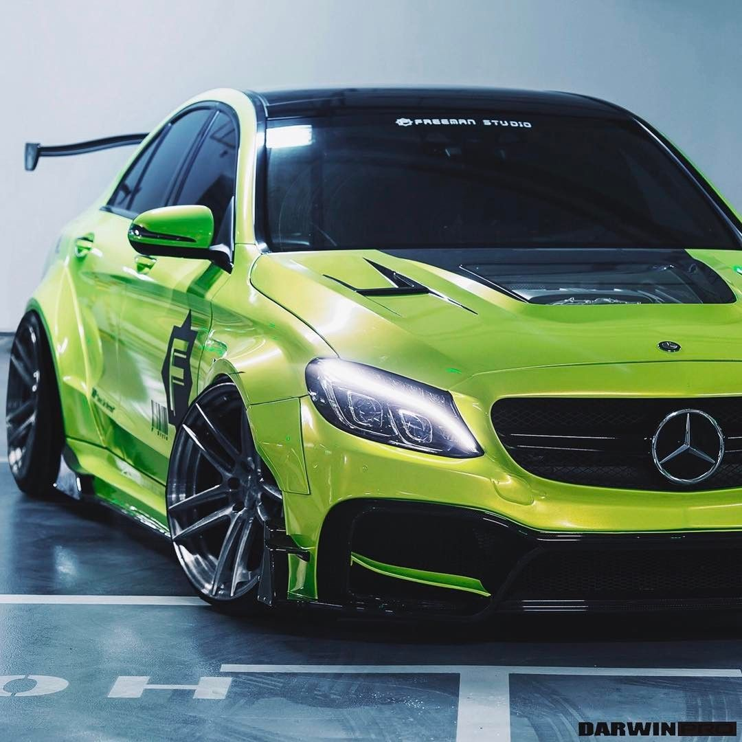 Our New C63 AMG W205 Carbon Wide Body Kit W/ Center Glass